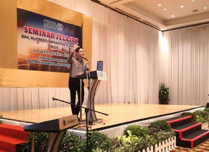 UTNM BIM Trainer and BIM Consultant gave BIM Talk at CIDB BIM Seminar in Sutera Harbour, Sabah, Malaysia.